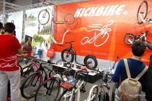 """Vlevo nahoře """"pověšený"""" model Racemax 20, který ujel mimo jiné i Tour de France 2013."""