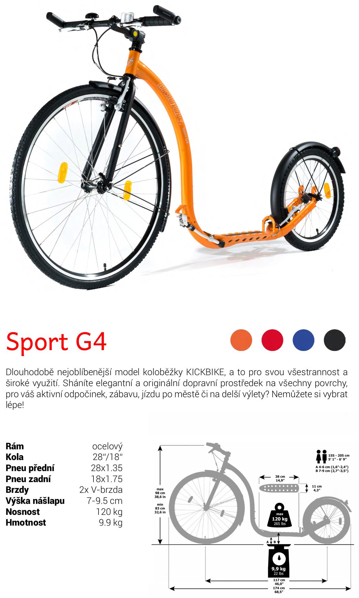 Koloběžka Kickbike Sport G4