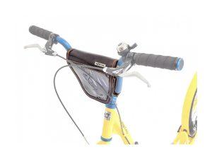 Brašna KOSTKA s klopou na BMX řídítka (kožená)
